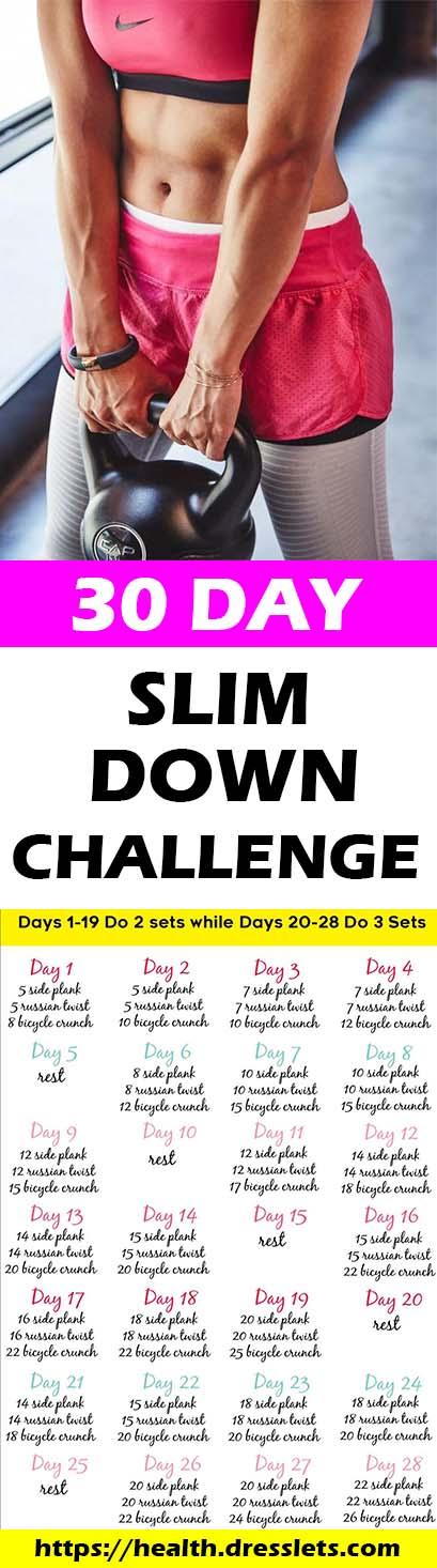 28 paeva Slim Down Challenge